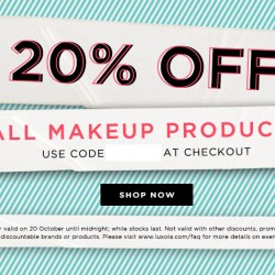 Luxola: 20% off All Makeup Products