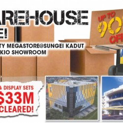 Gain City: Warehouse Sale Up to 90% OFF