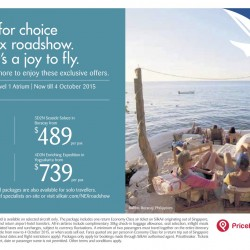 Silkair: Nex Roadshow Exclusive Offers