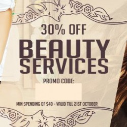 Deal.com.sg: 30% OFF Beauty Services for 3 Days!