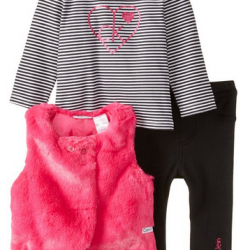 Amazon: Calvin Klein Baby Girls' Pink Vest with Tee and Leggings Via Coupon Code.