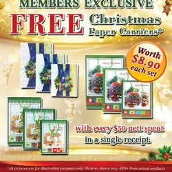 The Cocoa Trees: Free Christmas Paper Carriers