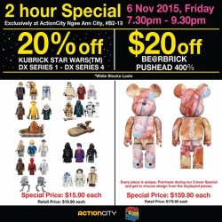 Action City: 2 hour Special Exclusive @get 20% OFF plus $20 OFF.