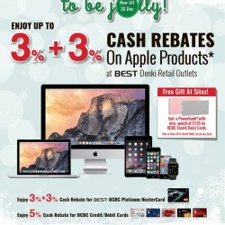 Go.BestDenki: Up to 3% + 3% Cash Rebates on Apple Products