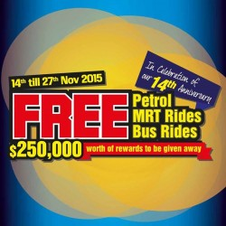 Harvey Norman: Celebrate 14th Anniversary @Free Petron MRT Bus Rides.