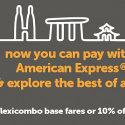 American Express: 50% OFF FlexiCombo Base Fares and 10% OFF Network Wide