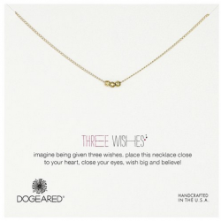 """Amazon: Dogeared Three Wishes Gold Necklace, 18""""."""