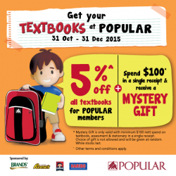Popular Book Company Pte Ltd: TextBook @5% OFF--Exclusive for Popular Member.
