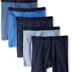 Amazon: Hanes Men's 5 Pack Ultimate Dyed Boxer Brief - Colors May Vary Via Coupon Code.