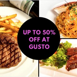 Deal.com.sg: Up to 50% OFF Cash Voucher at Gusto by Alfresco Gusto