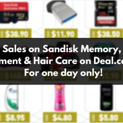 Deal.com.sg: Super Sales on Sandisk Memory, Fitness Equipment & Supplements, Hair Care