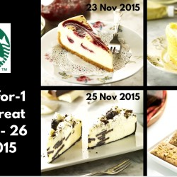 Starbucks: 1-for-1 Sweet Treat on Selected Goodies