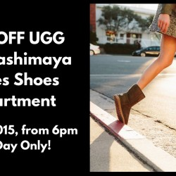 Takashimaya: 20% OFF UGG - One Day Only!