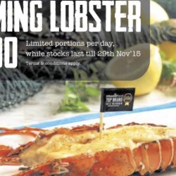 Manhattan Fish Market: Flaming Lobster at $9.90