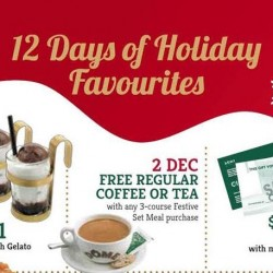 Dôme Café: 12 Days of Holiday Promotions