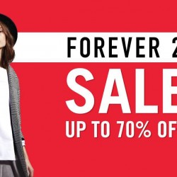 Forever 21: Year End Season Sale up to 70% OFF