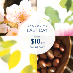 L'OCCITANE en Provence: Last Day @$10 OFF Online Only.