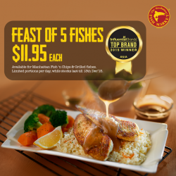 The Manhattan FISH MARKET: Feast of 5 Fishes at $11.95 each