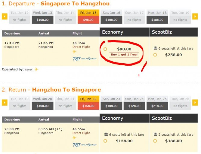 FlyScoot: 1-for-1 Sale to All Destinations!