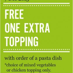 Marché Mövenpick: Pasta Dish @Get Free One Extra Topping