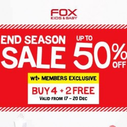 Fox Kids & Baby: End Season Sale Up to 50% OFF