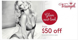 Triumph International: $50 OFF for Glam New Look