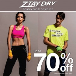 Bossini Be Happy: Ztay Dry Sports Collection @Take Up to 70% OFF