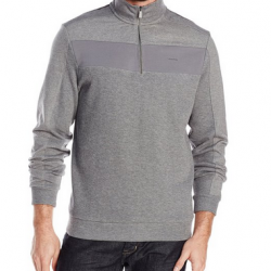 Amazon: Calvin Klein Men's Color Blocked 1/4-Zip French Rib Pull Over Sweatshirt