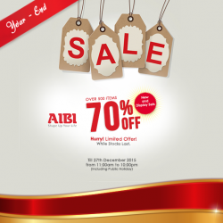 AIBI Fitness: Year_End Sale--Over 500 Items @70% OFF