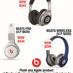 nübox: 30% OFF Apple Products at Beats Authorised Retailers Stores