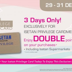 Isetan: 3 Days Only for Isetan Privilege Cardmembers