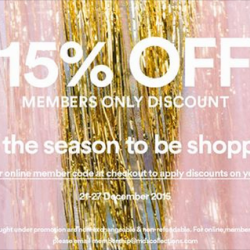 MDSCollections: 15% OFF for Members only Discount