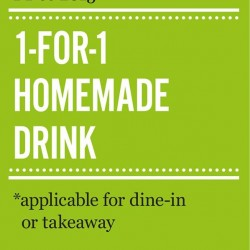 Marché Mövenpick: 1 for 1 Homemade Drink