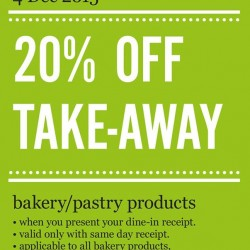 Marché Mövenpick: Festive Takeaway @20% OFF Take-Away Bakery/Pastry Items.