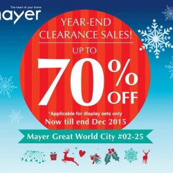 Mayer Marketing Pte Ltd: Year End Clearance Sales @Save Up to 70% OFF