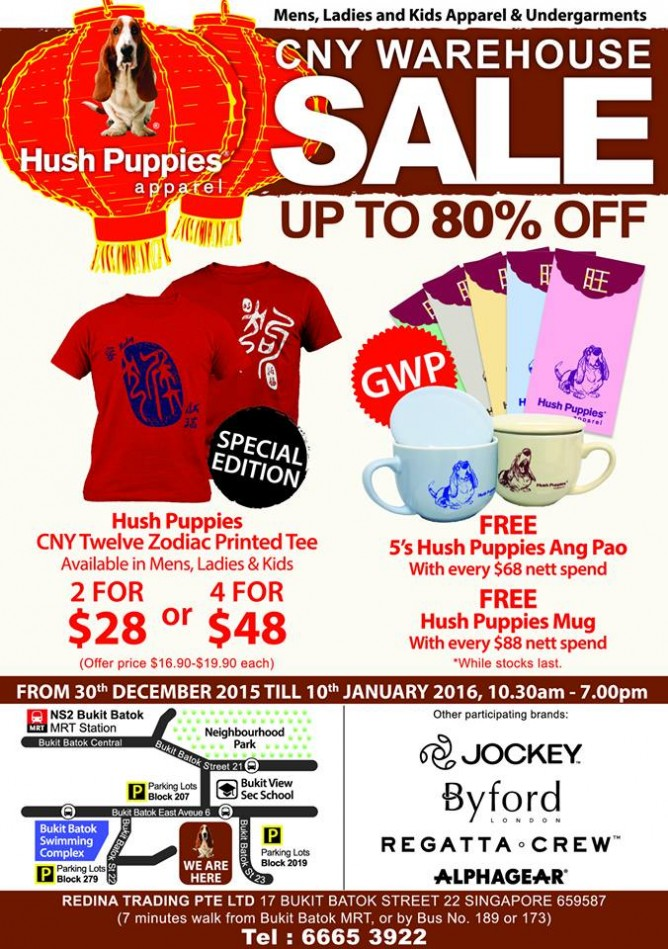 Till 10 Jan 2016 Hush Puppies Apparel  Up to 80% OFF Warehouse Sale 10 30am  - 7 00pm 808fd0f2c3