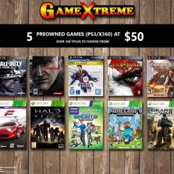 GameXtreme: 5 Preownd Games (PS3/X360) @$50