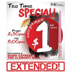 Sushi Express: Tea Time Special Everything @ $1++/ Plate