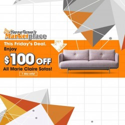 Harvey Norman: Marie Claire Sofas_Market Place @$100 OFF
