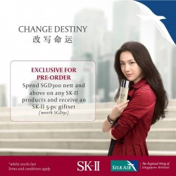 SilkAir: Receive SK-II 5Pcs Giftset when You Spend At Least $300 Worth Of SK-II Products