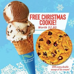 New Zealand Natural: Free Christmas Cookie worth @$2.80
