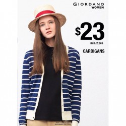 GIORDANO: CARDIGANS at $23 min. 2 pcs