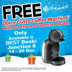 Go.BestDenki: FREE Dolce Gusto Coffee Machine with Purchase Selected LG TV.