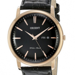 Amazon: Orient Men's FUG1R004B0 Capital Analog Display Japanese Quartz Black Watch Via Coupon Code.