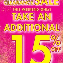 La Senza: Additional 15% OFF for Semi Annual Clearance Sale