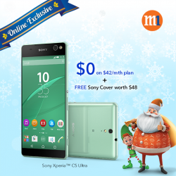 M1: Sony Xperia_C5 Ultra with FREE Sony Style Cover Stand @Get $50% OFF