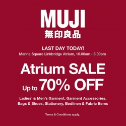 Muji: External Sales_Marina Square @Save Up to 70% OFF