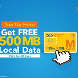M1: Receive FREE 500MB of Local Data (Valid for 30 days).