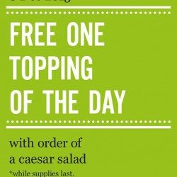 Marché Mövenpick: Free One Topping of The Day