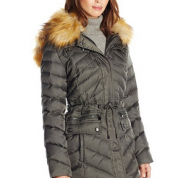 Amazon: Laundry Women's Anorak Faux-Down Coat with Faux-Fur Hood Via Coupon Code.